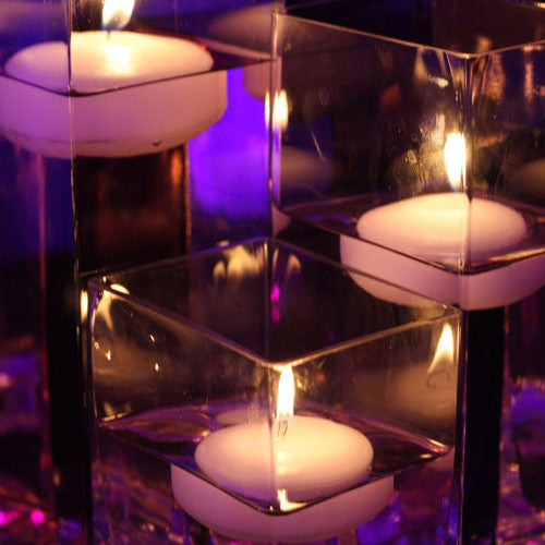 Floating Centerpieces For Weddings: Floating Candles - Colored