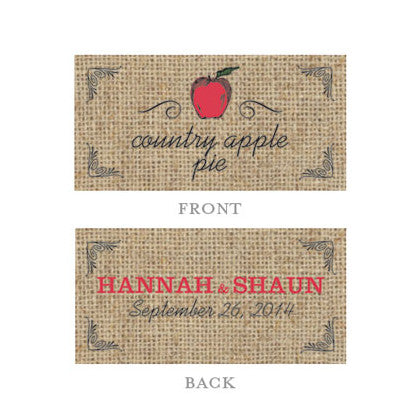 Personalized Fruit Themed Rectangular Tags (Pack of 24)