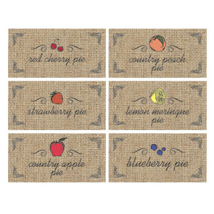 Six fruit types of the Fruit Themed Rectangular Tag