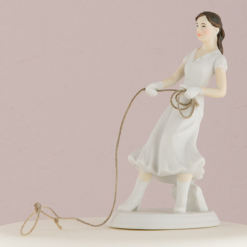 Cowgirl Bride Cake Topper