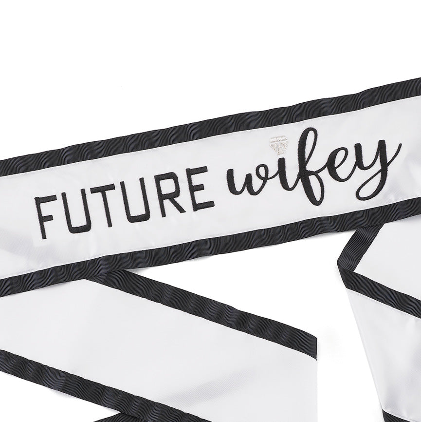 Future Wifey Wedding Bridal Satin Sash
