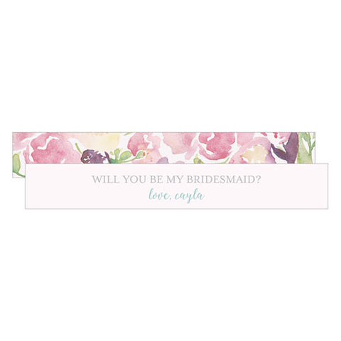 Garden Party Bridesmaids Personalized Message Paper Scrolls