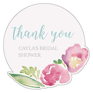 Personalized Garden Wedding Party Sticker
