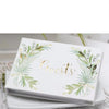 Personalized Green Woodland and Gold Wedding Ceremony Guest Book