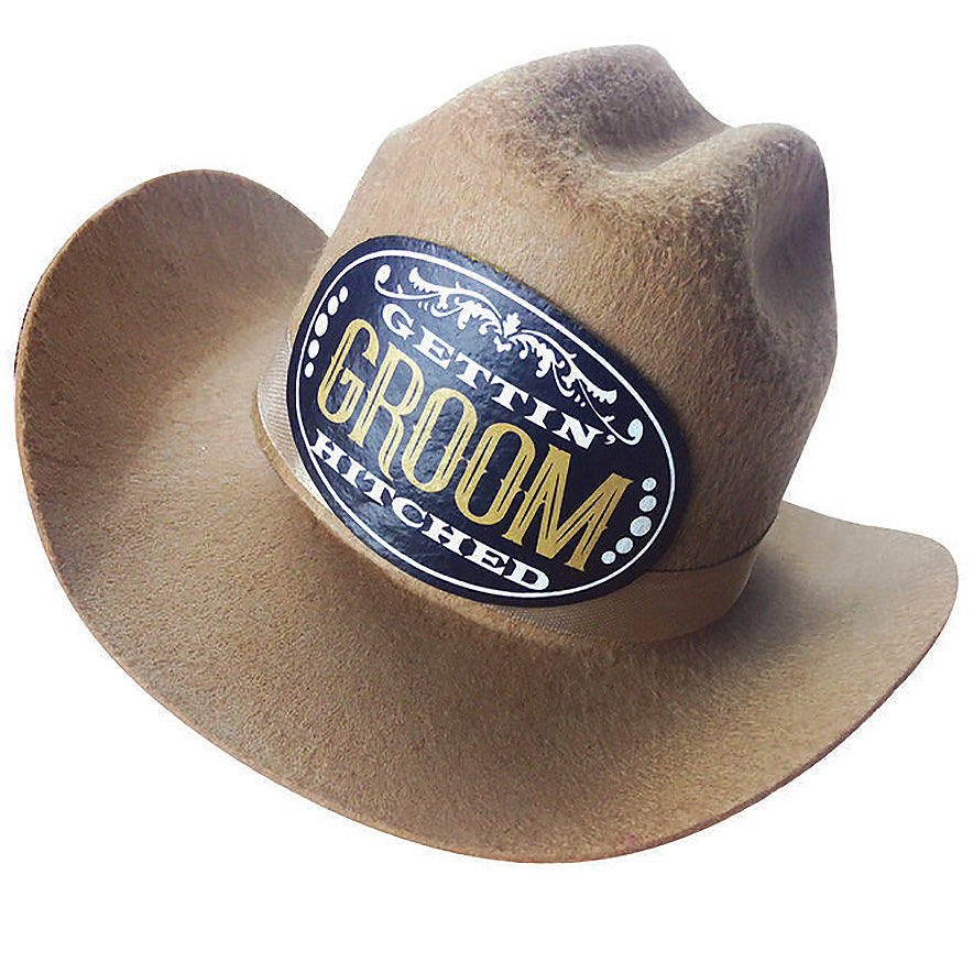 Gettin' Hitched Clip-on Cowboy Groom Party Hat