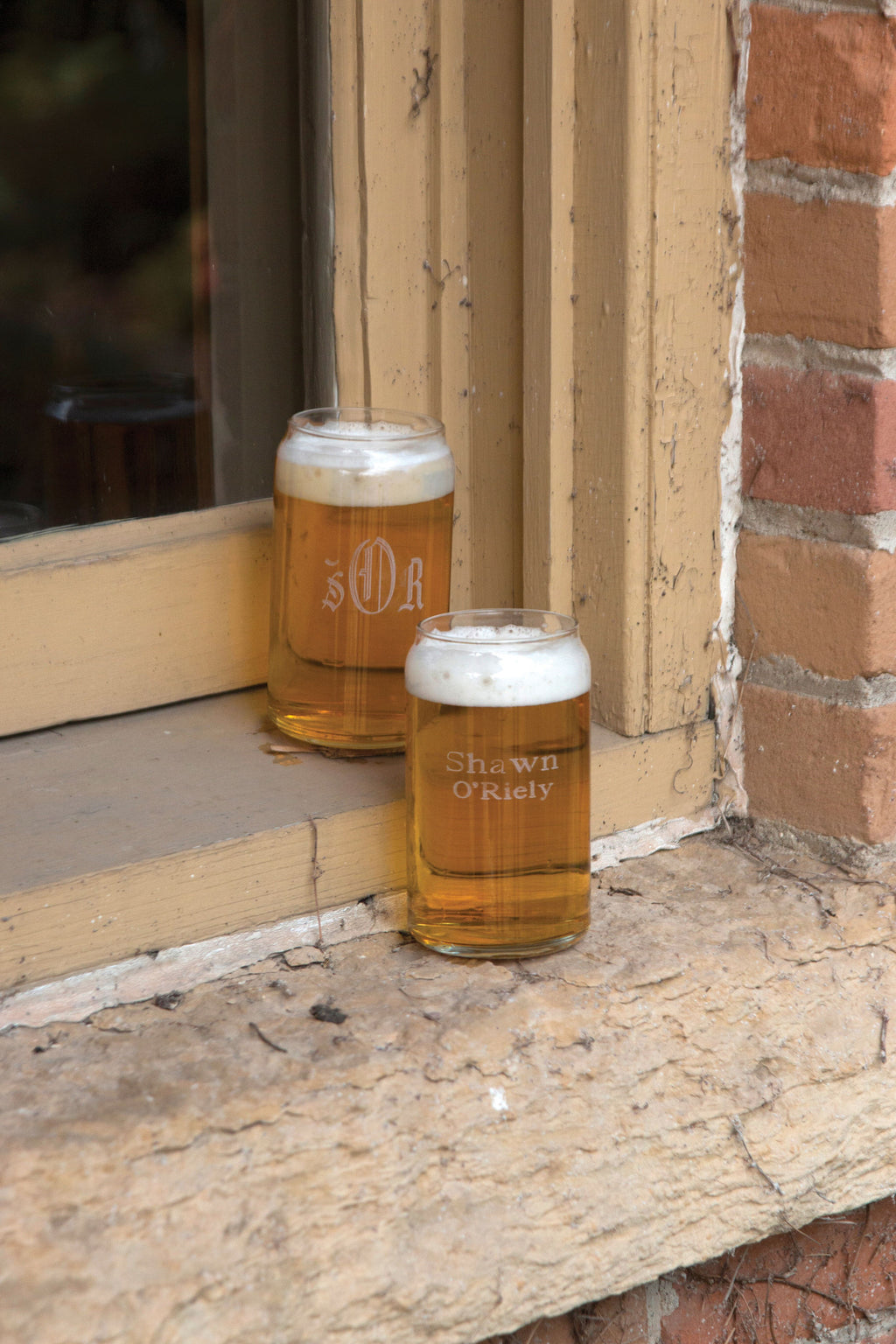 Personalized Glass Can Beer Gift Set