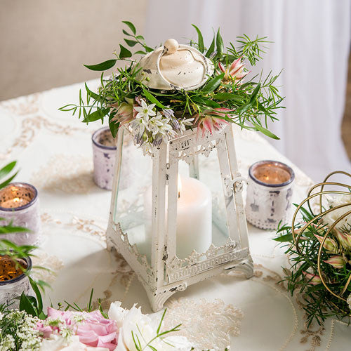 Table Top Pyramid Candle Lantern for Parties and Weddings