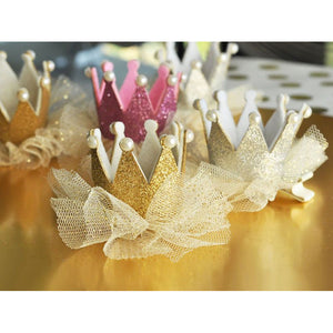 Glitter Crown Party Clips