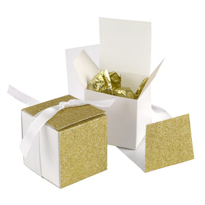Glitter Wrapped Wedding Party Favor Boxes