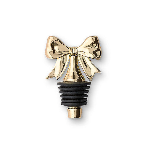 Gold Wedding Party Bow Bottle Stopper