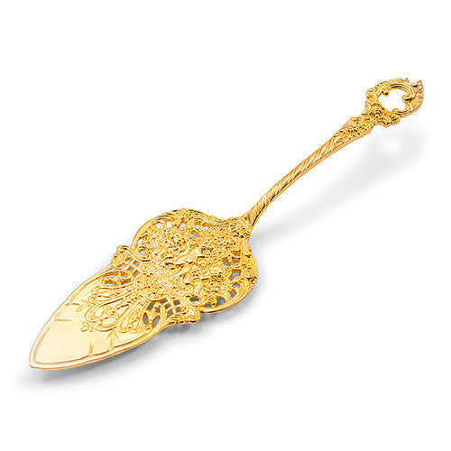 Gold Detailed Wedding Cake Pie Server