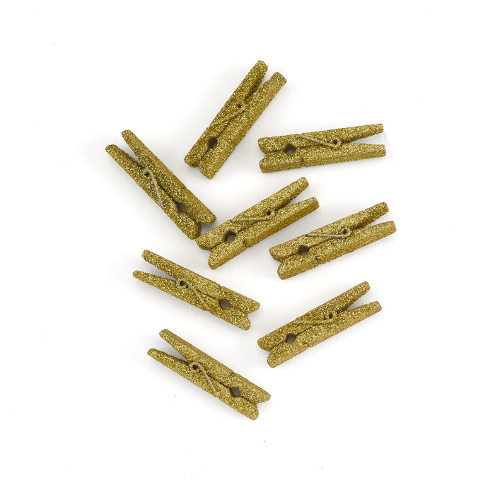Mini Glitter Favor Clothespins Weddings and Parties