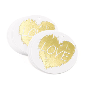Brush of Love Wedding Party Favor Tag
