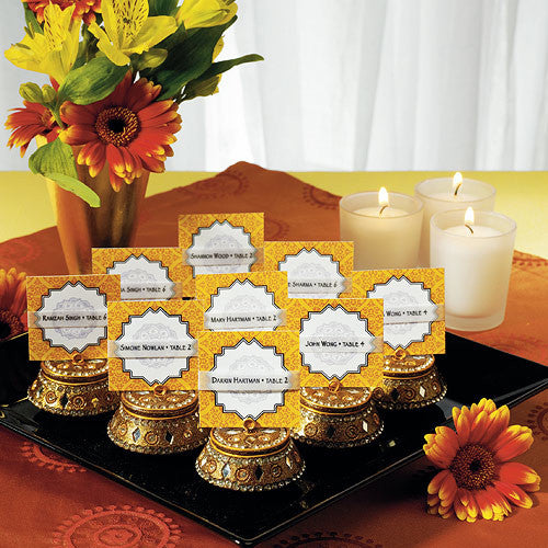 Gold Indian Bohemian Wedding Place Card Holder (Pack of 4)