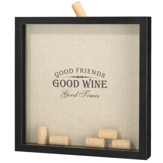 Good Friends Good Wine Frame Wedding Guest Book Alternative