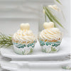 Green Leaf Die Cut Garden Party Paper Cupcake Wraps