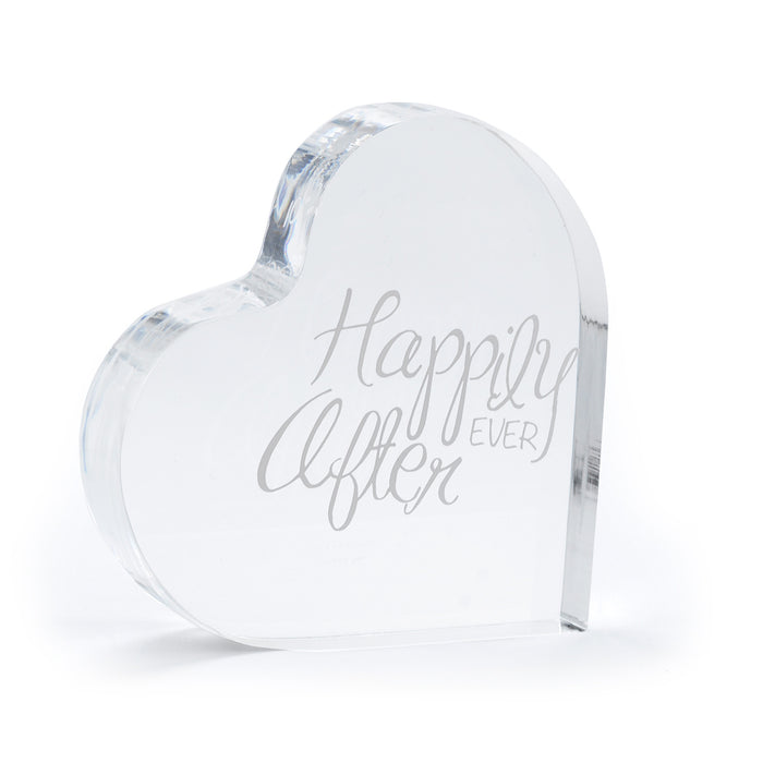 Happily Ever After Acrylic Wedding Cake Topper