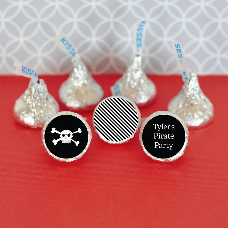 Pirate Party Theme Hersheys Kisses Labels