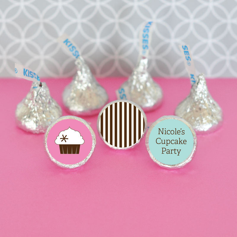 Cupcake Party Theme Hershey Kisses Stickers