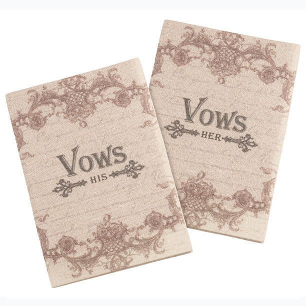 His and Her Wedding Ceremony Vows Books (Set of 2 )