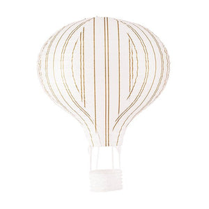 Hot Air Balloon Paper Lantern Set Gold White