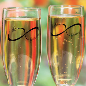 Infinity Sign I Do Forever Wedding Toast Glass Gift Set