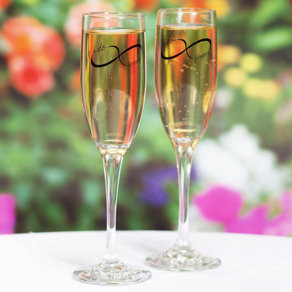 Infinity Champagne Flute Set, give the gift of love!