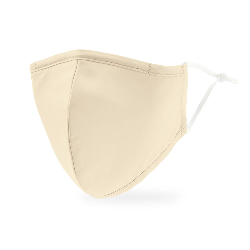 Ivory Colored Adult Cloth Face Mask