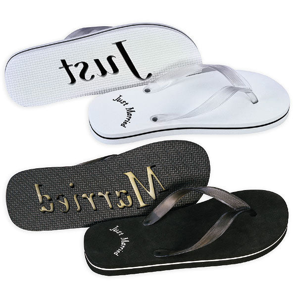 Just Married Flip Flop Sandals
