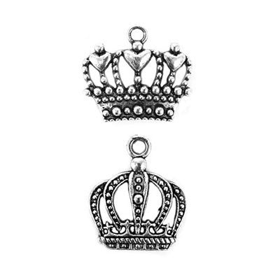 King and Queen's Crown Wedding Favor Charms