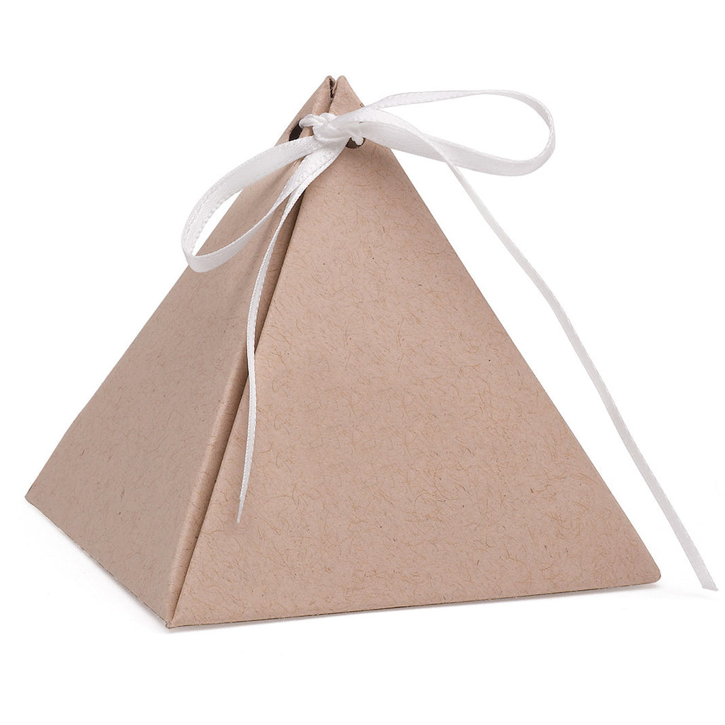 Kraft Pyramid Wedding Party Favor Box