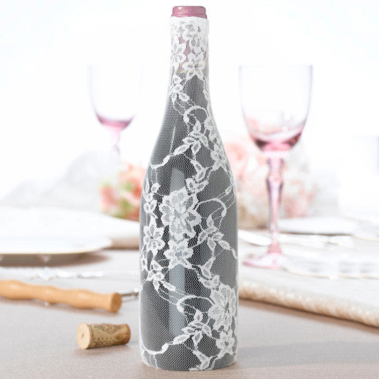 Lace Glass Bottle Cover Party Wedding Decoration