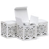 White Lace Laser Cut Paper Wedding Party Favor Box