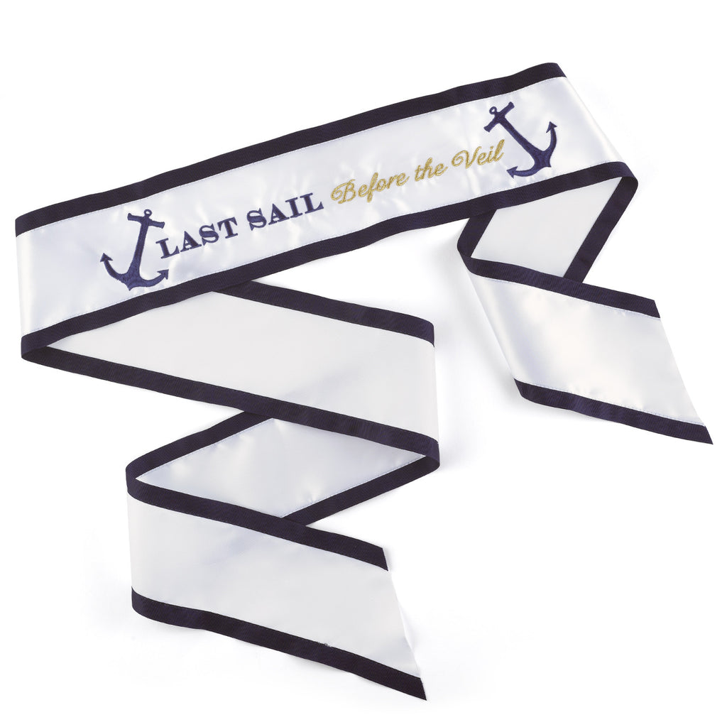 Last Sail Sash Before the Veil Wedding Bridal Sash