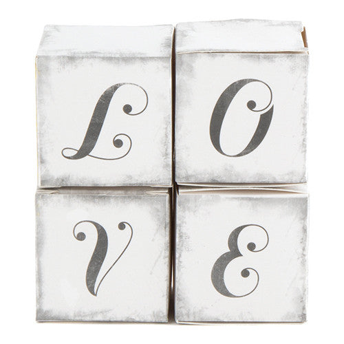 LOVE Wedding Party Favor Box (Pack of 10)