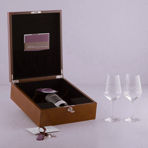 Personalized Wine Bottle Wedding Ceremony Box Set