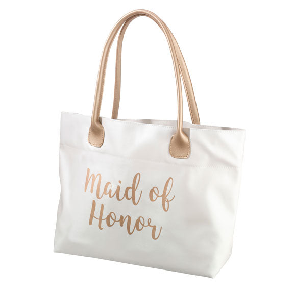 Maid of Honor Metallic Gold Tote Bag