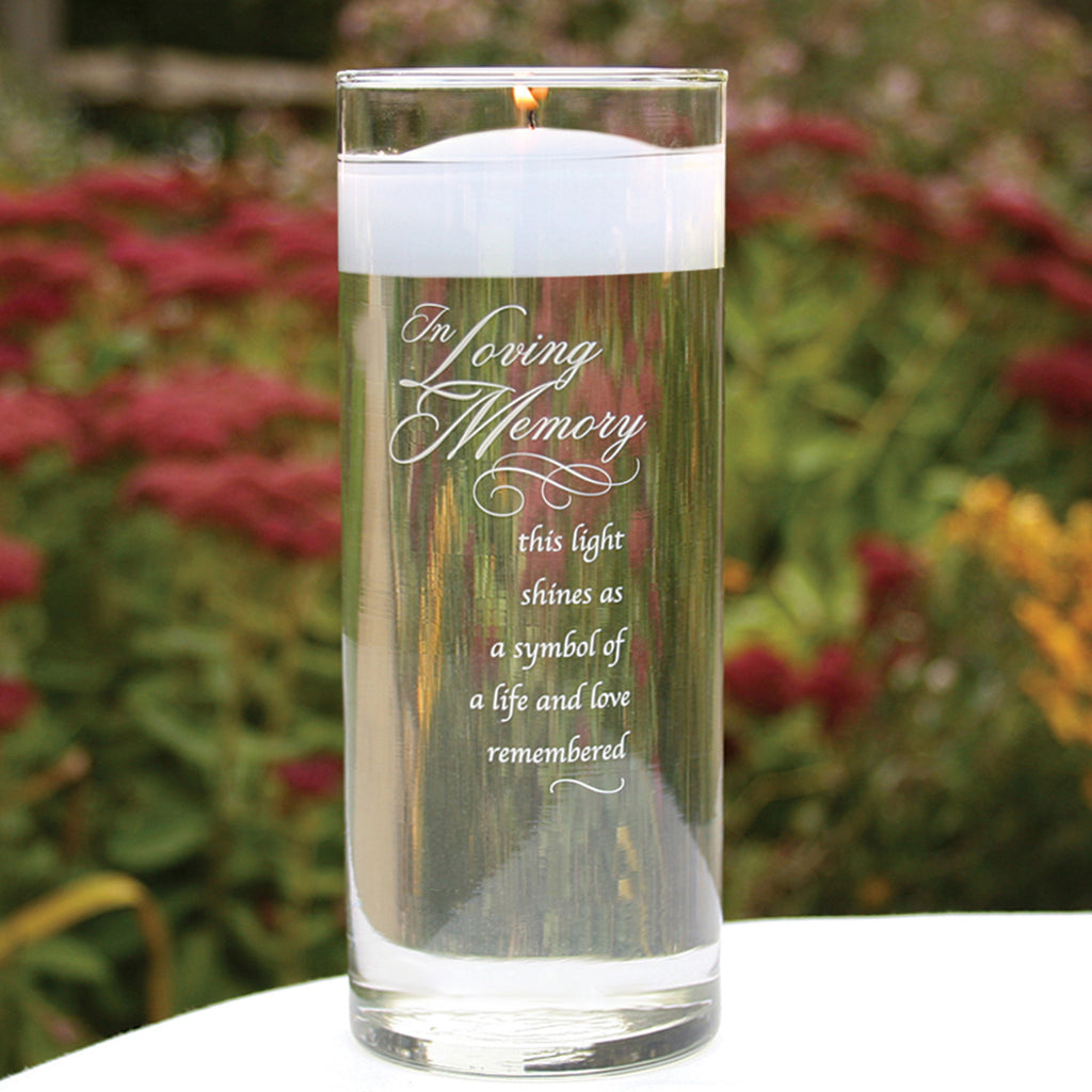Memorial Ceremony Glass Cylinder Vase