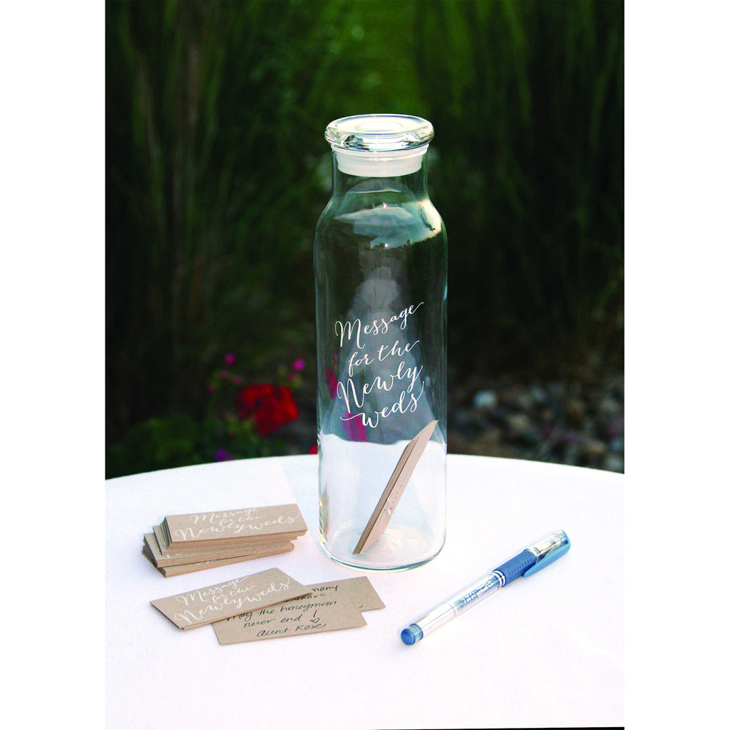 Message in a Bottle Wedding Day Advice Card Set