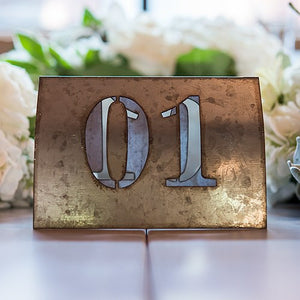 Laser Cut Metal Wedding Party Table Number Set