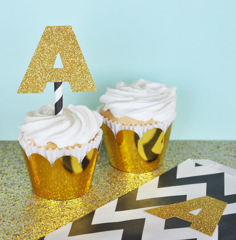 Metallic Foil Cupcake Wrappers (Set of 12)