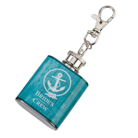 Bride's Crew Wedding Party Mini Anchor Flask Favor