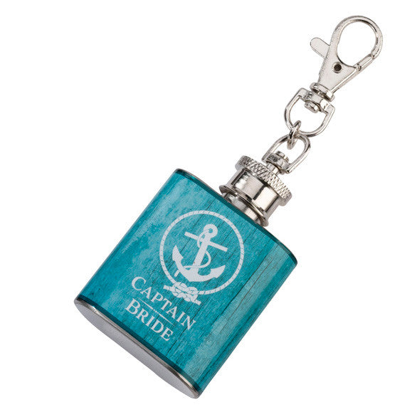 Captain Bride Wedding Party Mini Anchor Flask Favor Save  View  Apps  Duplicate