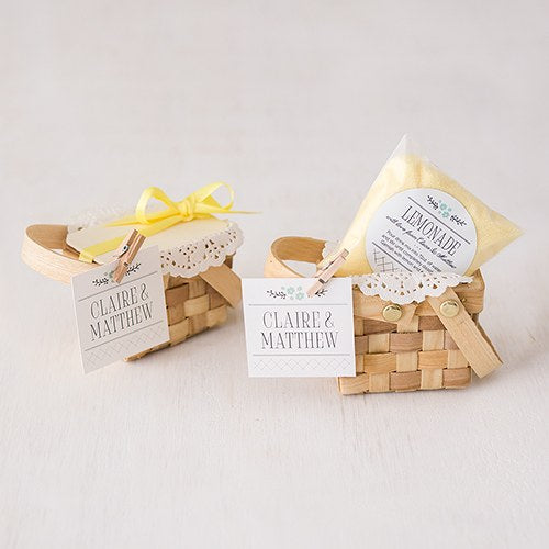 Mini Picnic Basket Wedding Party Favor