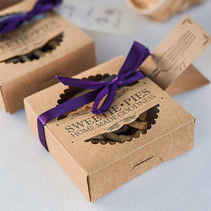Mini-Pie Wedding Favor Box Set and Kit