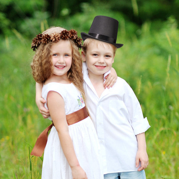 Mini Black Ring Bearer's Top Hat