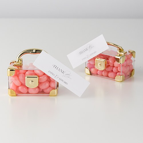 Mini Travel Suitcase Wedding Party Favor Box (Pack of 2)