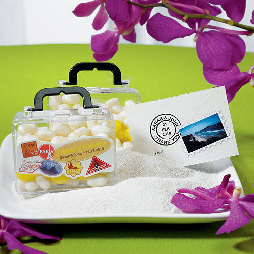 Mini Travel Suitcase Favor Container | Candy Cake Weddings