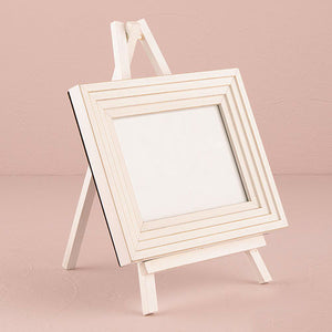 Mini Wooden Easel Stand with Picture Frame