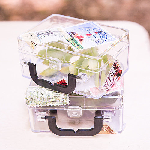 Suitcase Wedding Party Favor Box (Pack of 6)